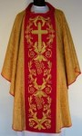 Chasuble en damas riches brodée. (id: 229)