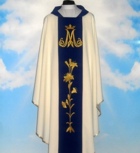 Chasuble brodée Mariale. (id: 179)
