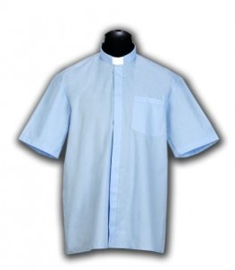 Chemise clergyman, manches courtes (id: 245)