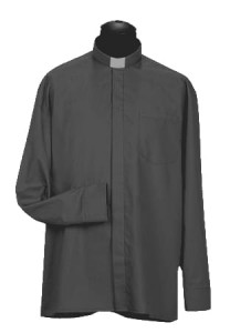 Chemise clergyman, manches longues. (id: 248)