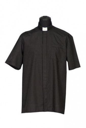 Chemise clergyman, manches courtes. (id: 244)